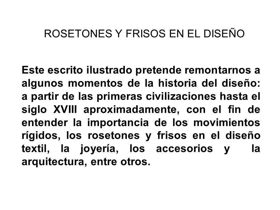ROSETONES Y FRISOS EN EL DISEÑO