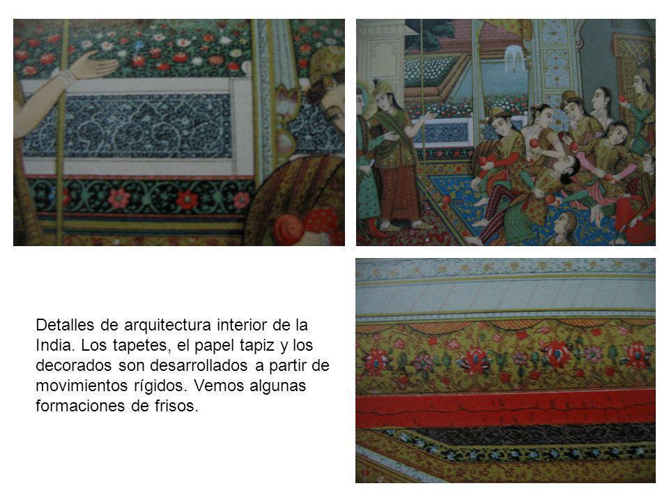 Detalles de arquitectura interior de la India