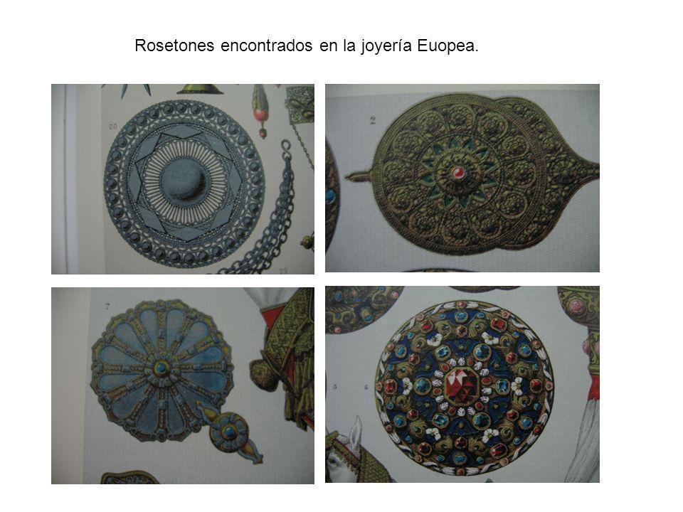 Rosetones encontrados en la joyería Euopea.