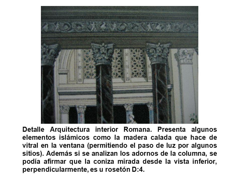 Detalle Arquitectura interior Romana