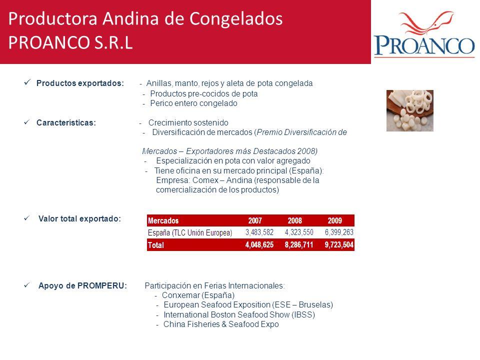 Productora Andina de Congelados PROANCO S.R.L