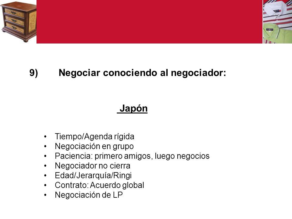 Negociar conociendo al negociador: