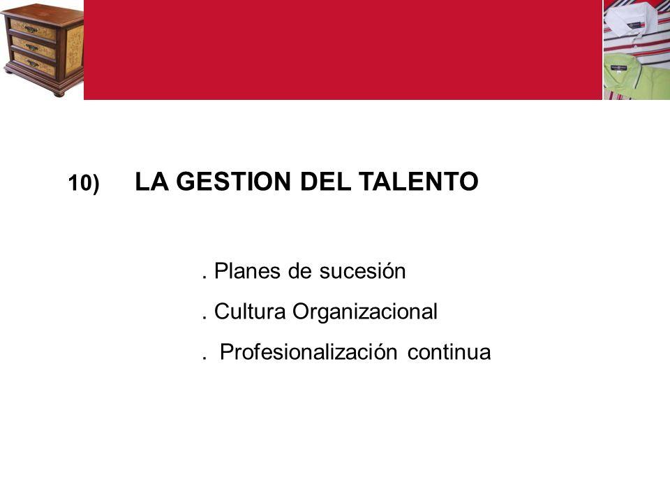 LA GESTION DEL TALENTO . Planes de sucesión . Cultura Organizacional . Profesionalización continua
