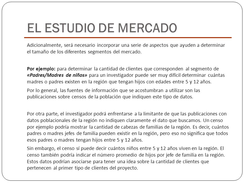 EL ESTUDIO DE MERCADO