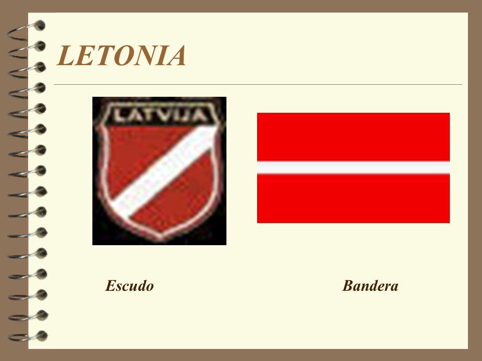 LETONIA Escudo Bandera