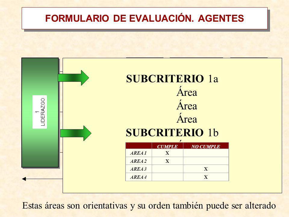 FORMULARIO DE EVALUACIÓN. AGENTES