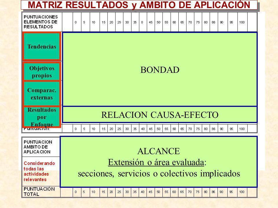 MATRIZ RESULTADOS y AMBITO DE APLICACIÓN