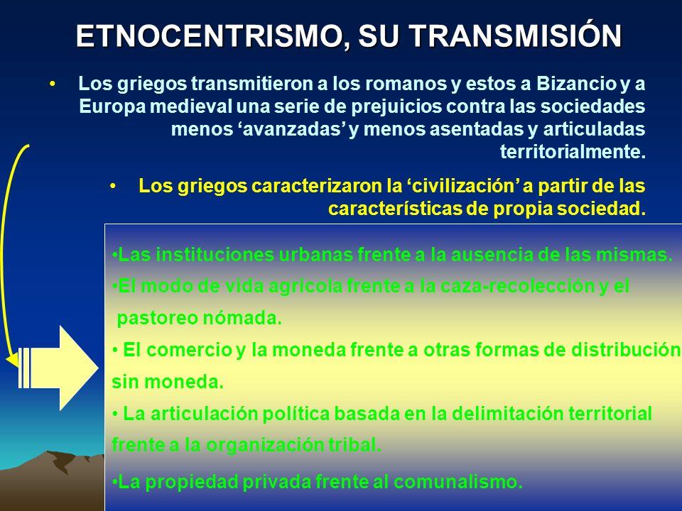 ETNOCENTRISMO, SU TRANSMISIÓN
