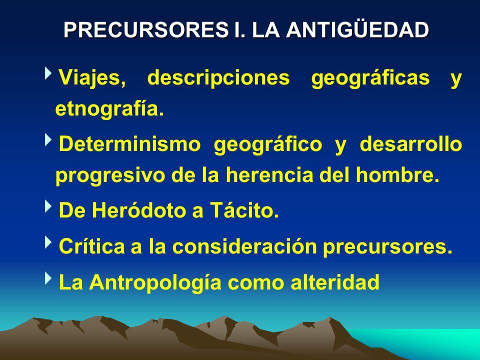 PRECURSORES I. LA ANTIGÜEDAD