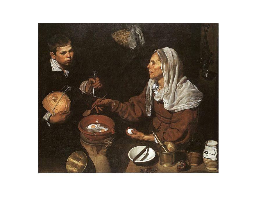 Vieja friendo huevos, de Velázquez.