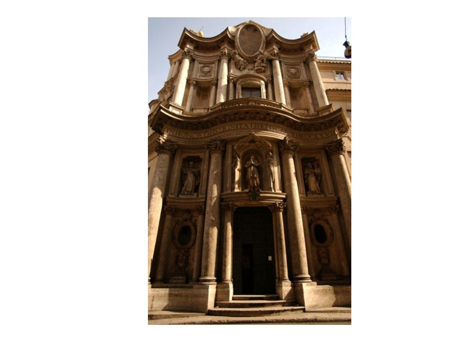 Fachada de la Iglesia de San Carlos de en Roma de Borromini