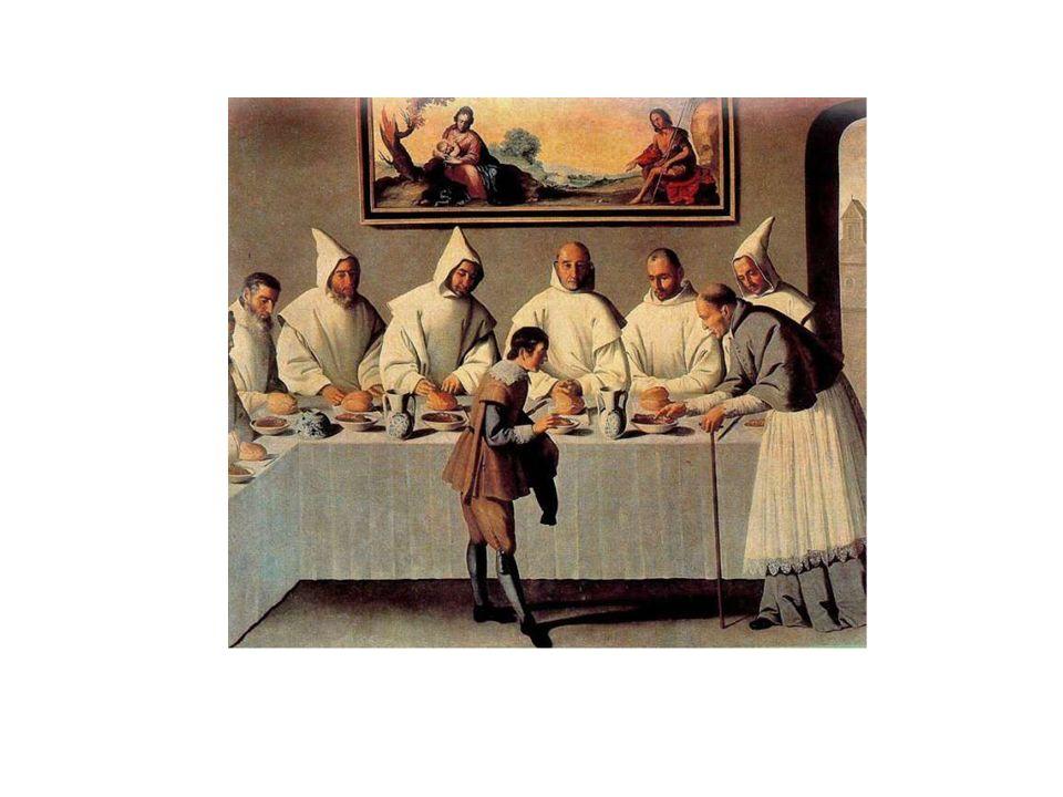 La escena refleja un milagro acontecido a San Bruno, fundador de los cartujos, y a los seis primeros monjes de la Orden, quienes comían gracias a la generosidad de San Hugo, obispo de Grenoble.