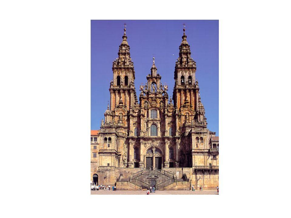 Fachada del Obradoiro de la Catedral de Santiago de Compostela, de Casas y Novoa