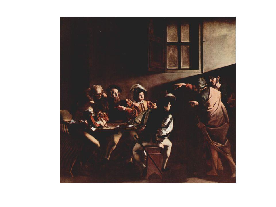 Vocacion de San Mateo, de Caravaggio.