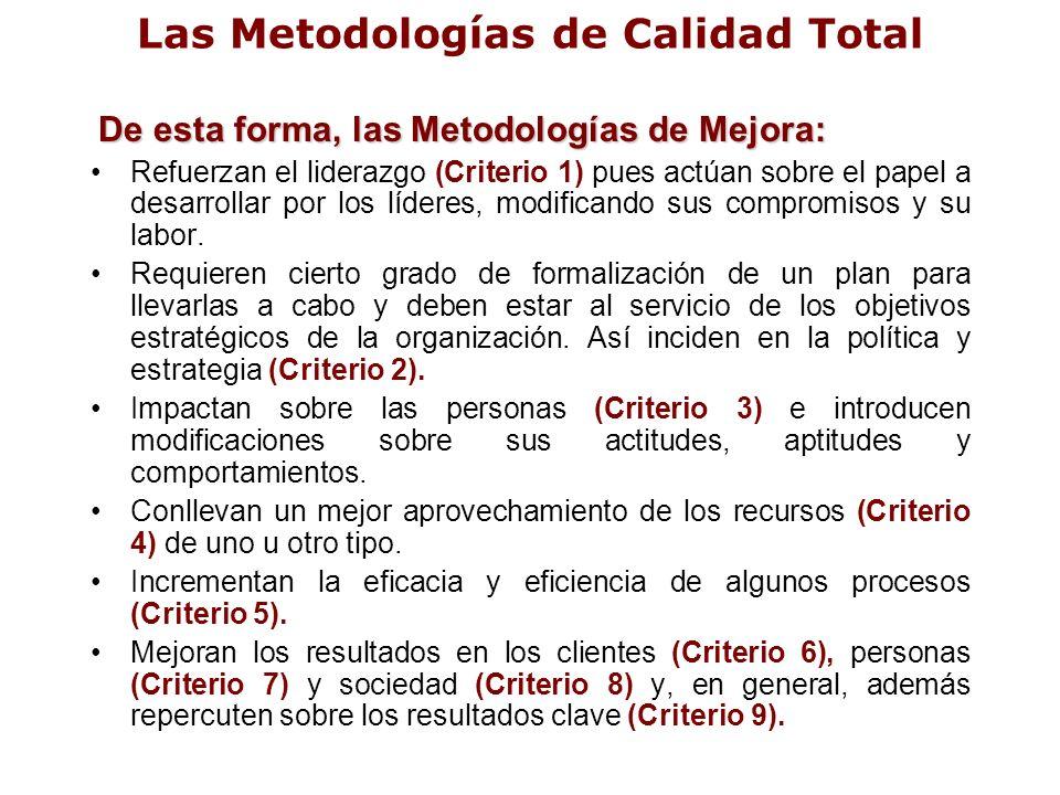 Las Metodologías de Calidad Total