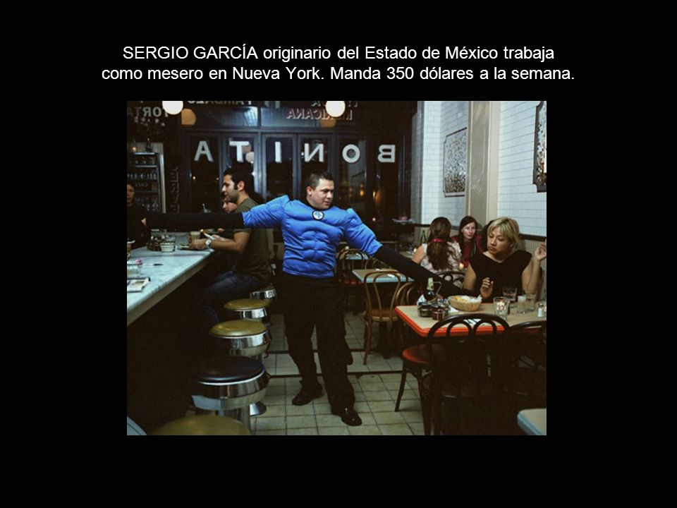 SERGIO GARCÍA originario del Estado de México trabaja como mesero en Nueva York.