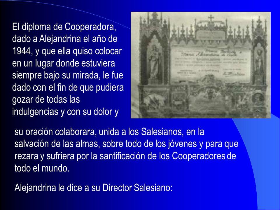El diploma de Cooperadora,