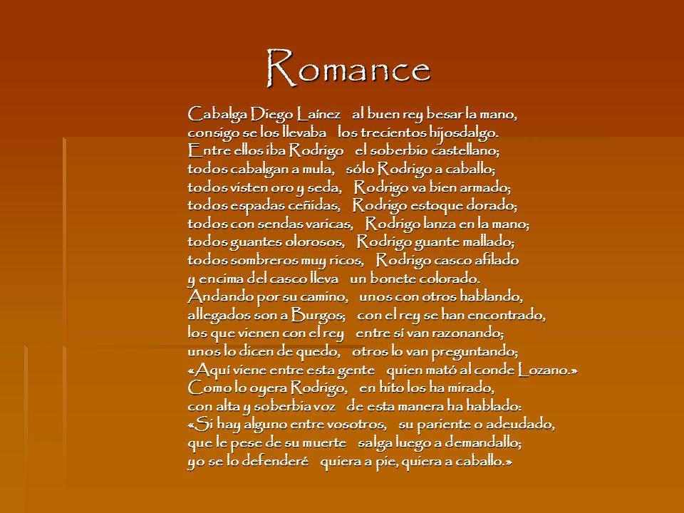 Romance Cabalga Diego Laínez al buen rey besar la mano,