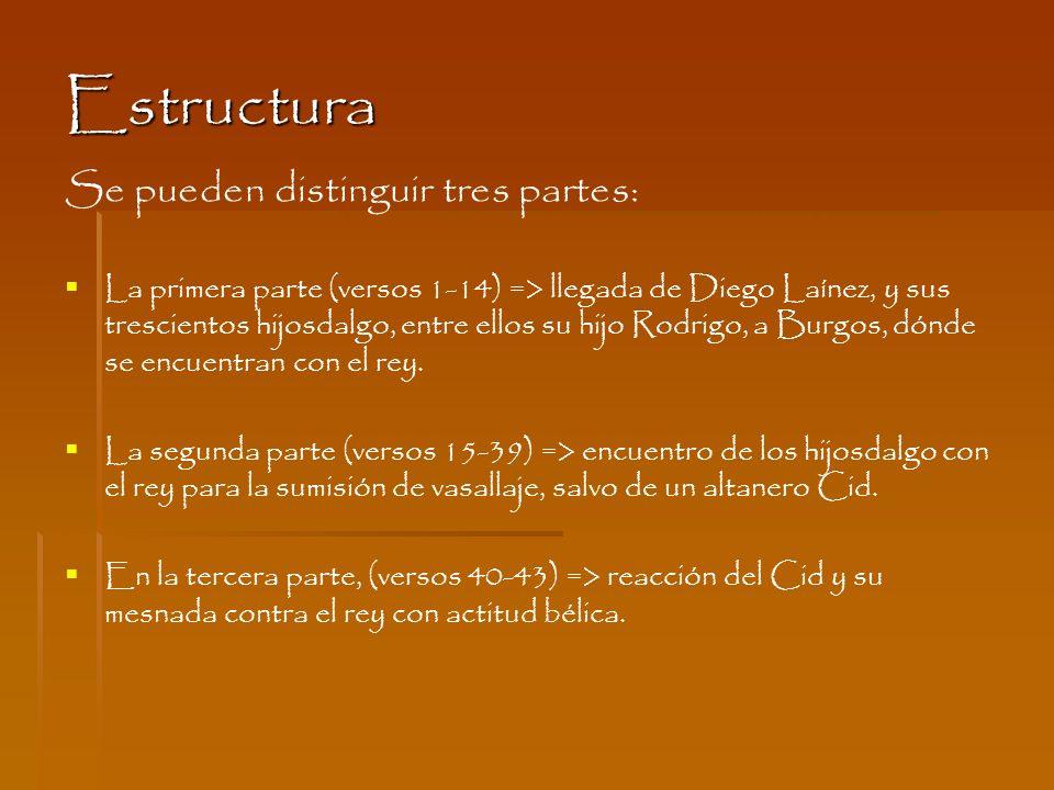 Estructura Se pueden distinguir tres partes: