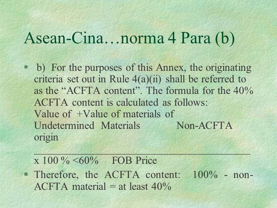 Asean-Cina…norma 4 Para (b)