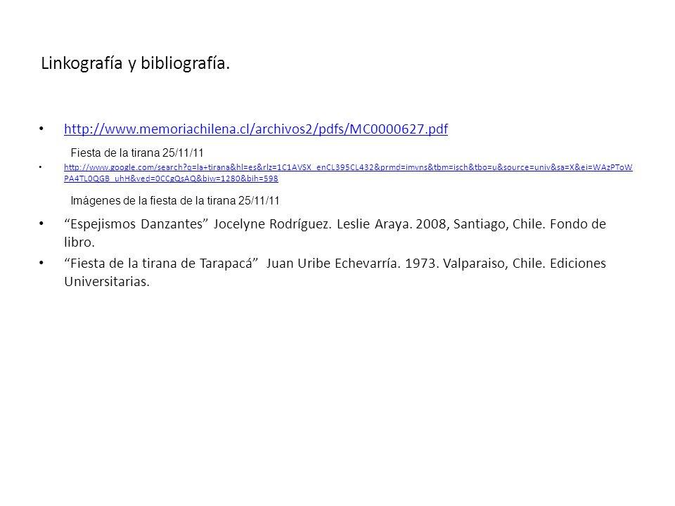 Linkografía y bibliografía.