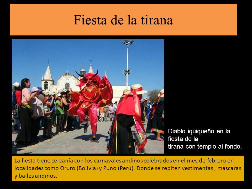 Fiesta de la tirana Diablo iquiqueño en la fiesta de la