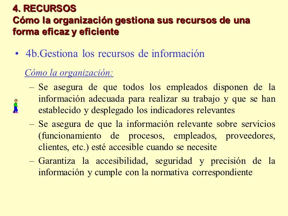 Cómo la organización: 4b.Gestiona los recursos de información