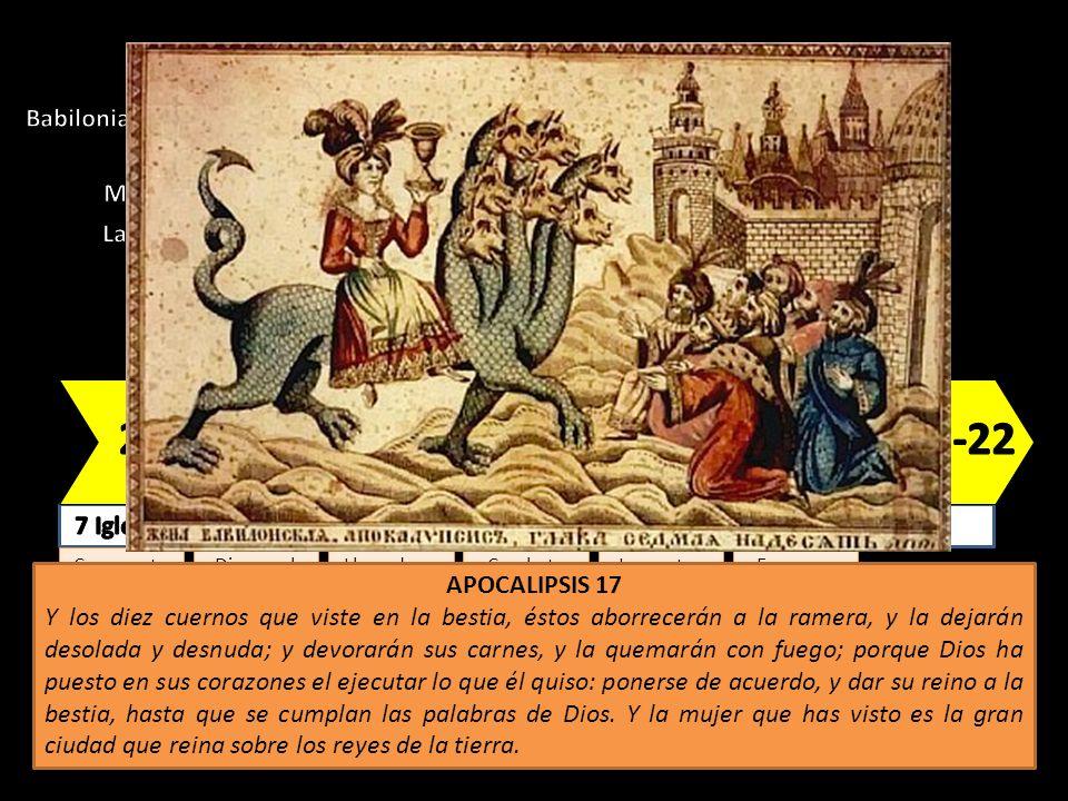 Babilonia, la célebre prostituta, sobre la bestia