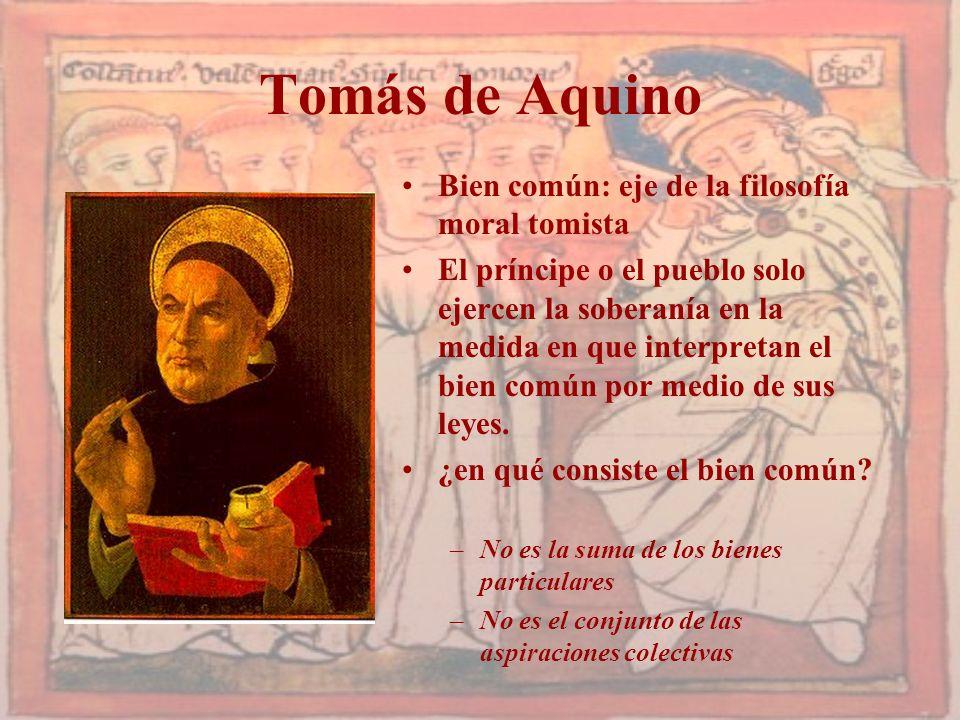 Tomás de Aquino Bien común: eje de la filosofía moral tomista