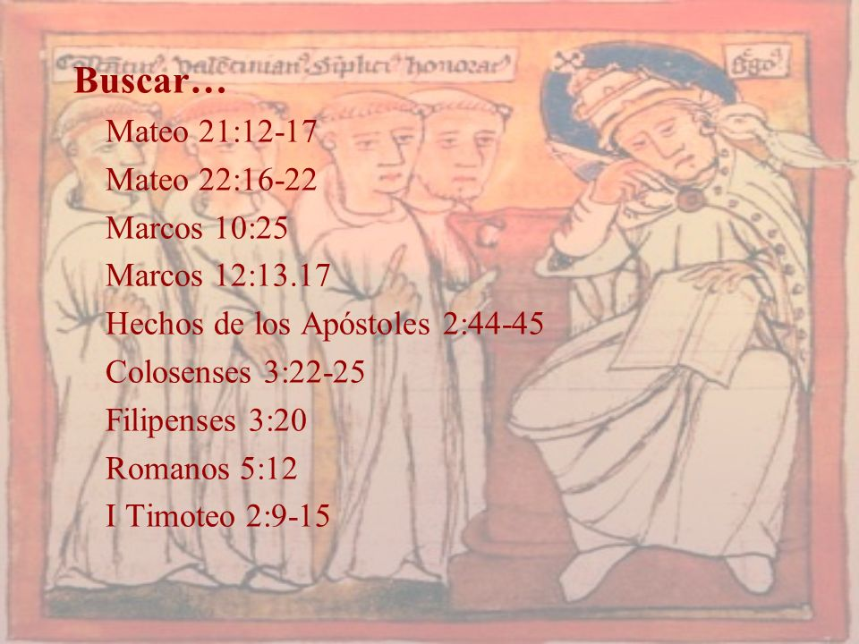 Buscar… Mateo 21:12-17 Mateo 22:16-22 Marcos 10:25 Marcos 12:13.17