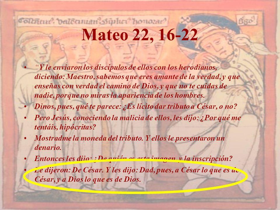 Mateo 22, 16-22