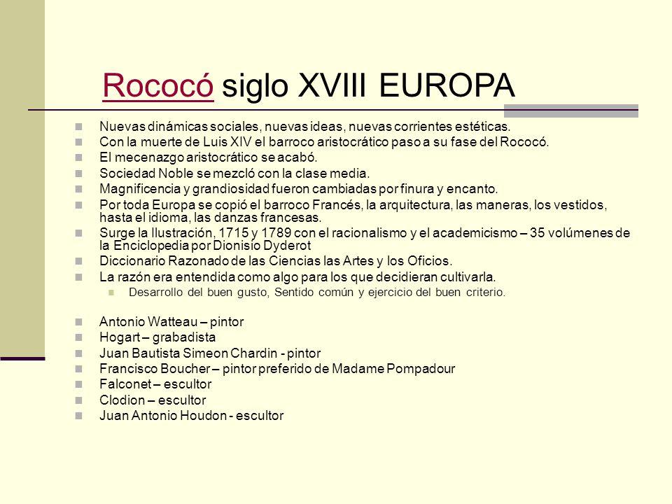 Rococó siglo XVIII EUROPA