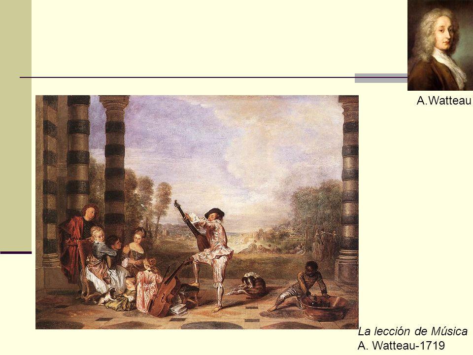 A.Watteau La lección de Música A. Watteau-1719