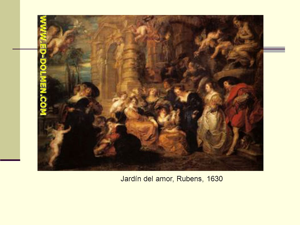 Jardín del amor, Rubens, 1630