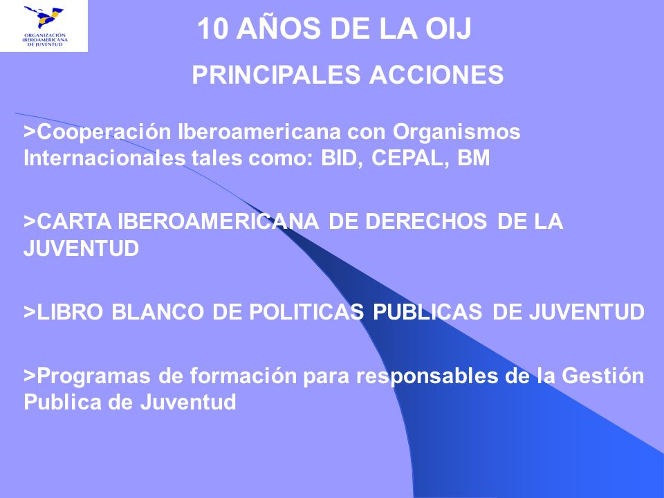 >CARTA IBEROAMERICANA DE DERECHOS DE LA JUVENTUD
