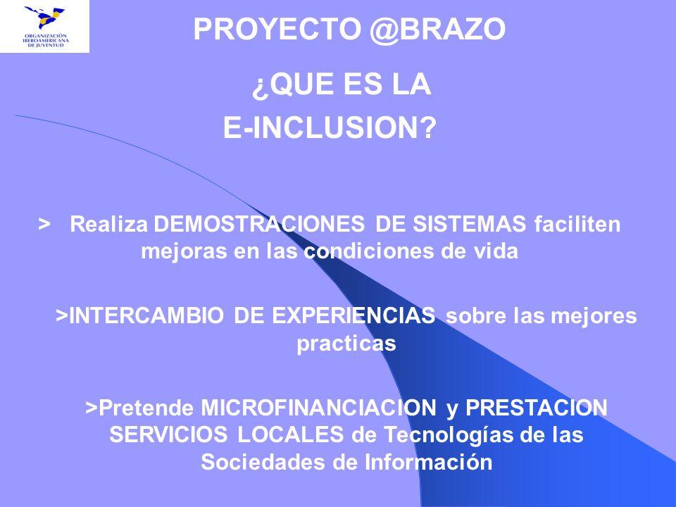 >INTERCAMBIO DE EXPERIENCIAS sobre las mejores practicas