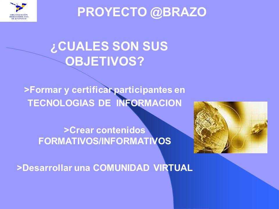 >Formar y certificar participantes en TECNOLOGIAS DE INFORMACION