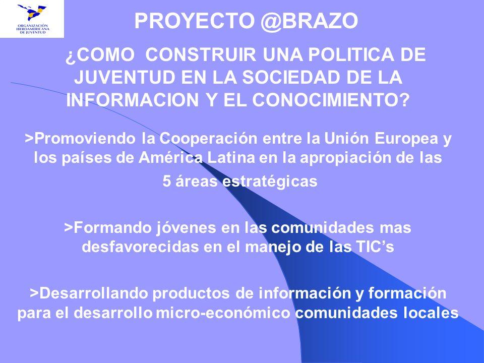 PROYECTO @BRAZO ¿COMO CONSTRUIR UNA POLITICA DE JUVENTUD EN LA SOCIEDAD DE LA INFORMACION Y EL CONOCIMIENTO