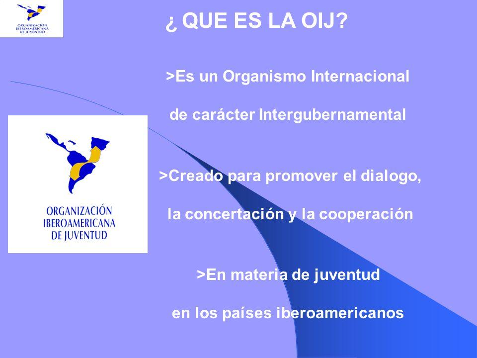 >Es un Organismo Internacional de carácter Intergubernamental