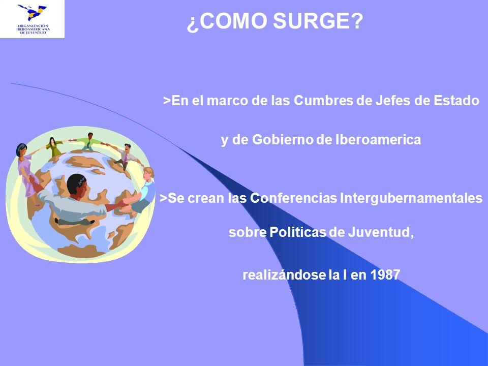 ¿COMO SURGE >En el marco de las Cumbres de Jefes de Estado