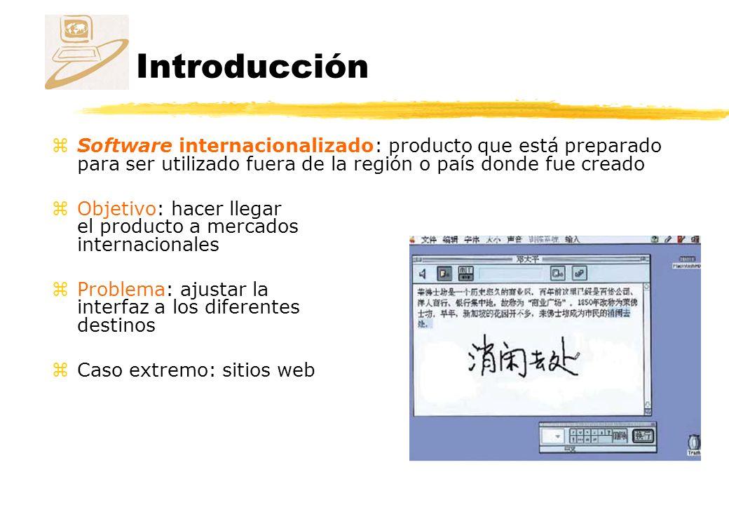 Introducción Software internacionalizado: producto que está preparado para ser utilizado fuera de la región o país donde fue creado.