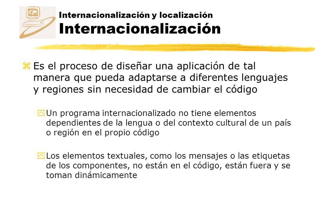 Internacionalización y localización Internacionalización