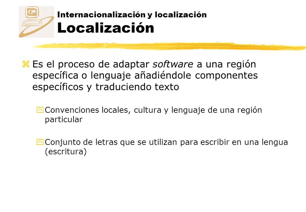 Internacionalización y localización Localización