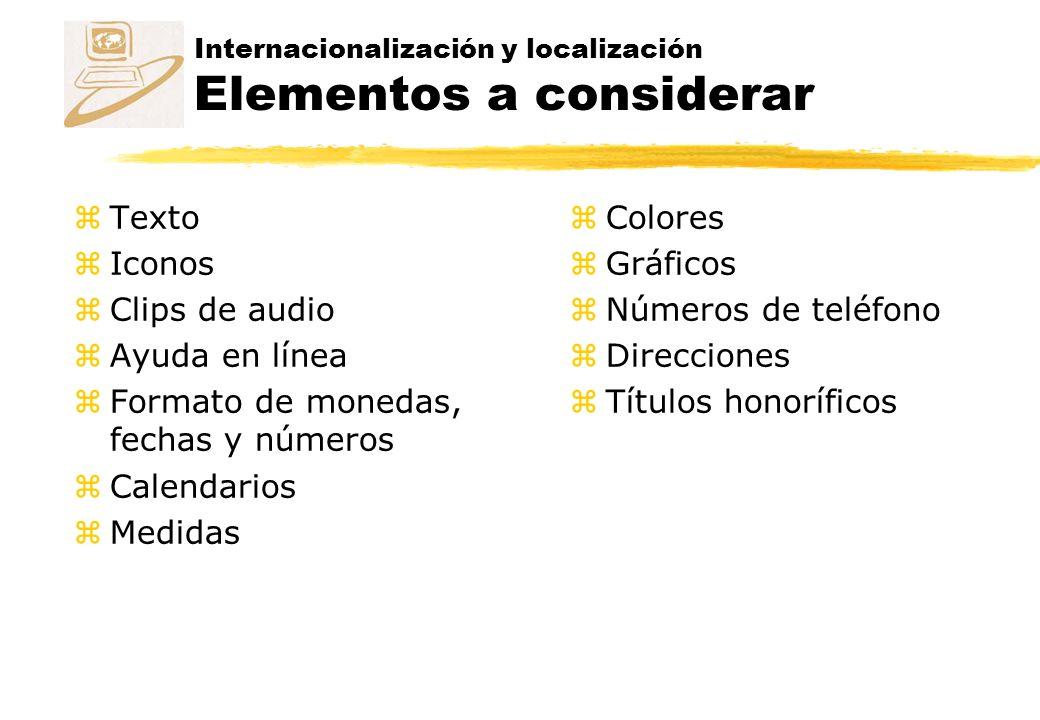 Internacionalización y localización Elementos a considerar