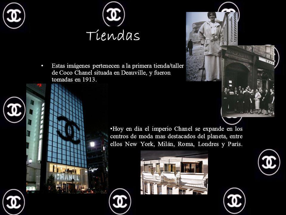 Tiendas Estas imágenes pertenecen a la primera tienda/taller de Coco Chanel situada en Deauville, y fueron tomadas en 1913.