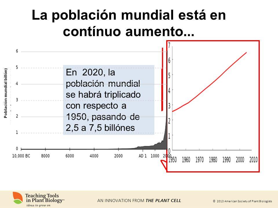La población mundial está en contínuo aumento...