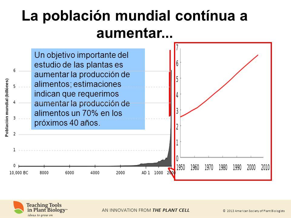 La población mundial contínua a aumentar...