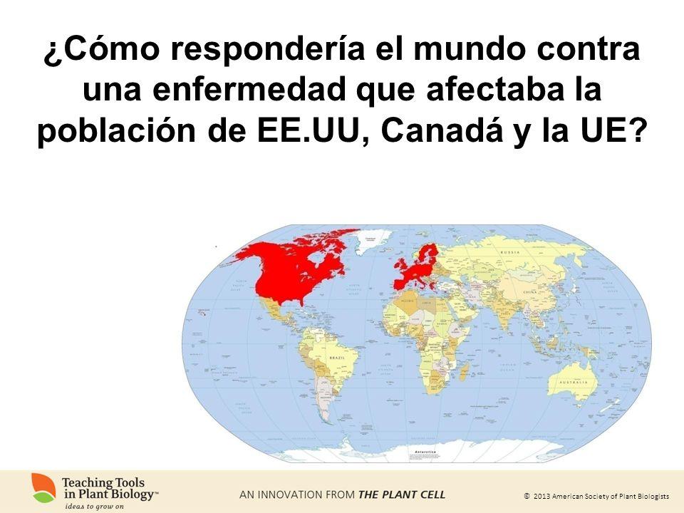 ¿Cómo respondería el mundo contra una enfermedad que afectaba la población de EE.UU, Canadá y la UE