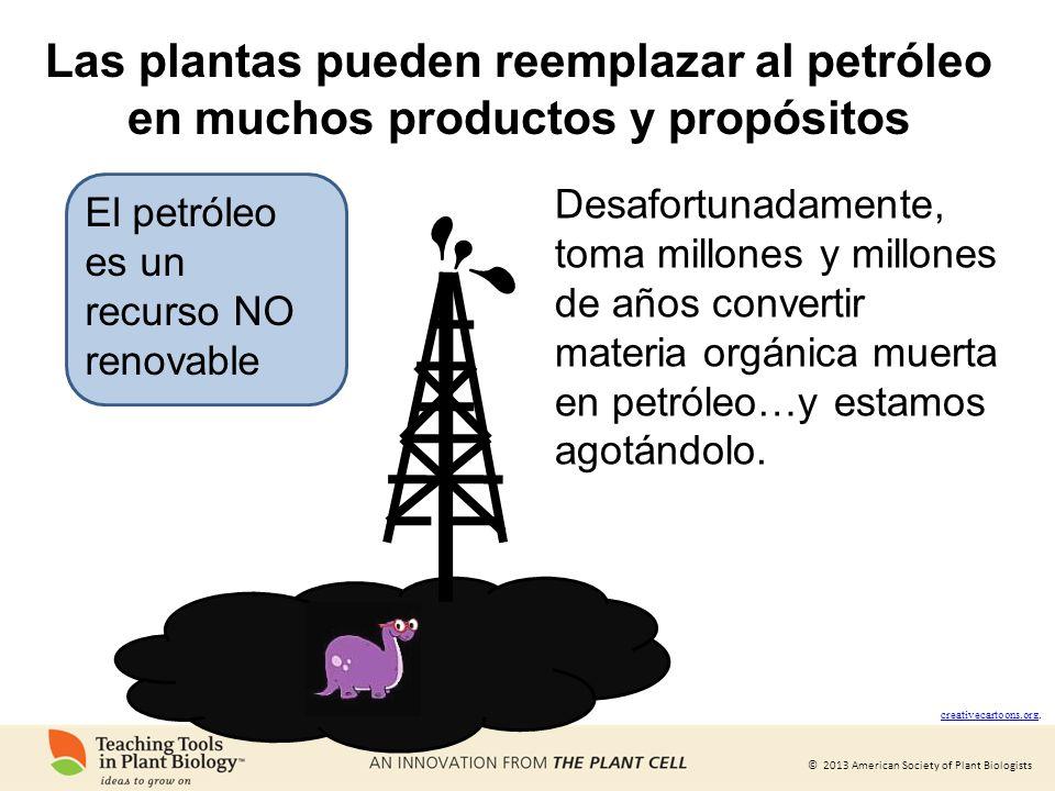 Las plantas pueden reemplazar al petróleo en muchos productos y propósitos