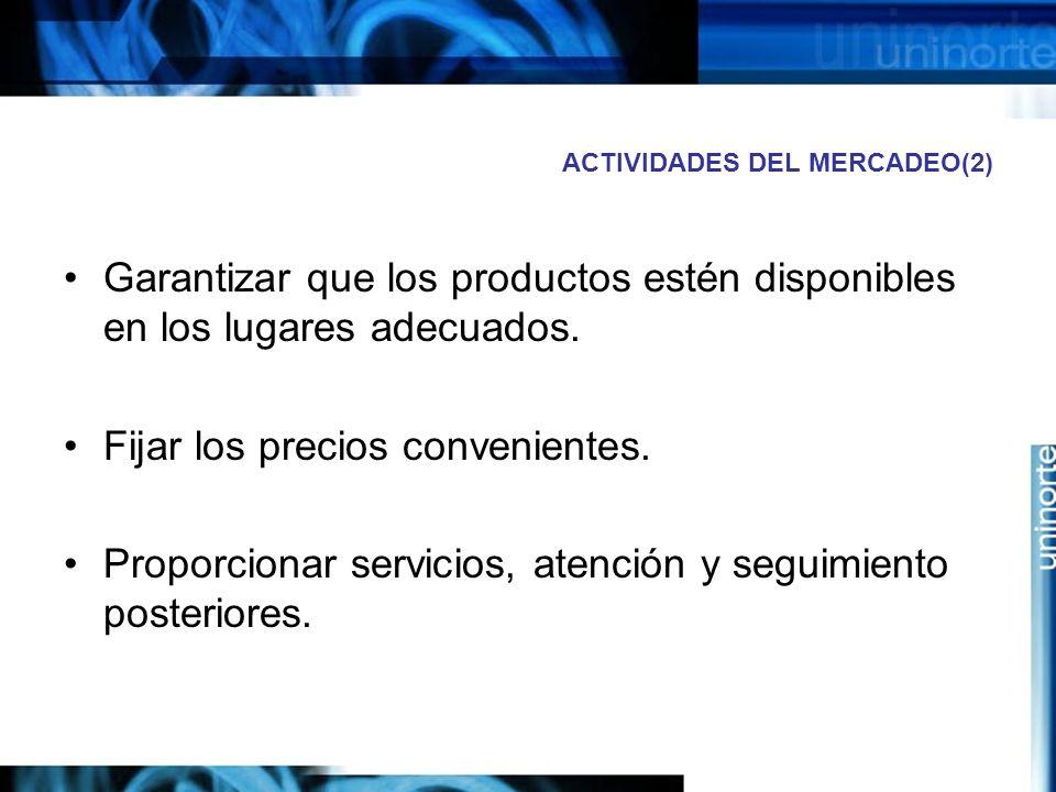 ACTIVIDADES DEL MERCADEO(2)